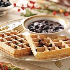 Blueberry Waffles Recipe - 200 Delicious Blueberry Recipes - RecipePin.com