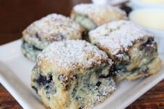 Famous Blueberry Scones - 200 Delicious Blueberry Recipes - RecipePin.com