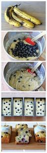 Buttermilk Banana Blueberry Bread  - 200 Delicious Blueberry Recipes - RecipePin.com