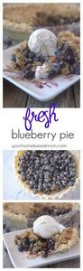 Enjoy this fresh blueberry pie wit - 200 Delicious Blueberry Recipes - RecipePin.com