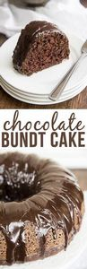 Chocolate Bundt Cake - This is the - 150 Tempting Bundt Cake Recipes - RecipePin.com