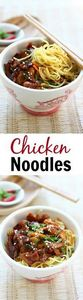 Stir-fried chicken noodles with ch - 235 Chinese Recipes - RecipePin.com