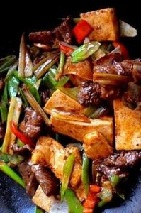 Scallion Ginger Beef Tofu - 235 Chinese Recipes - RecipePin.com