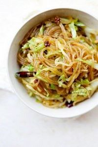 shredded cabbage & glass noodl - 235 Chinese Recipes - RecipePin.com