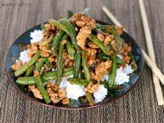 Chinese Green Beans with Ground Tu - 235 Chinese Recipes - RecipePin.com