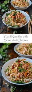 Cold Noodles with Shredded Chicken - 235 Chinese Recipes - RecipePin.com