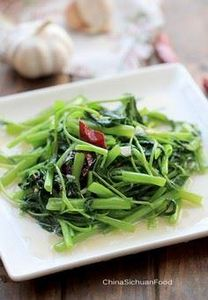 Chinese Water Spinach Stir Fry - 235 Chinese Recipes - RecipePin.com