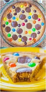 Triple Peanut Butter Cookie Pie -  - 300 Favorite Cookie Recipes - RecipePin.com