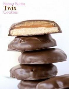 Peanut Butter Twix Cookies -- so e - 300 Favorite Cookie Recipes - RecipePin.com