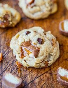 Twix Bar Chocolate Chip Cookies -  - 300 Favorite Cookie Recipes - RecipePin.com