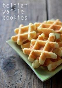 Miniature Belgian Waffle Cookies.  - 300 Favorite Cookie Recipes - RecipePin.com
