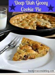 Deep Dish Chocolate Chip Cookie Pi - 300 Favorite Cookie Recipes - RecipePin.com