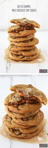 Salted Caramel Milk Chocolate Chip - 300 Favorite Cookie Recipes - RecipePin.com
