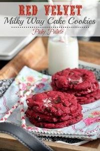 Red Velvet Milky Way Cake Cookies - 300 Favorite Cookie Recipes - RecipePin.com