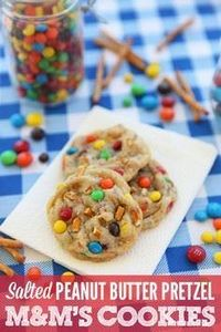 Salted Peanut Butter Pretzel M&amp - 300 Favorite Cookie Recipes - RecipePin.com