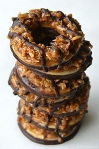 Homemade Samoas Girl Scout Cookies - 300 Favorite Cookie Recipes - RecipePin.com