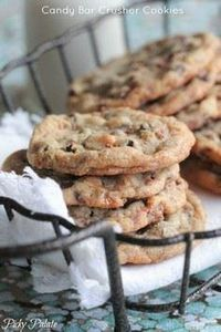 Candy Bar Crusher Cookies.  Perfec - 300 Favorite Cookie Recipes - RecipePin.com