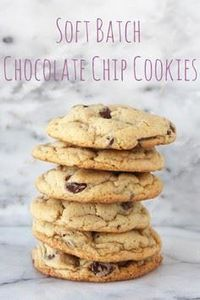 Soft Batch Chocolate Chip Cookies - 300 Favorite Cookie Recipes - RecipePin.com