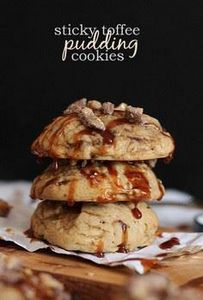 Sticky Toffee Pudding Cookies - 300 Favorite Cookie Recipes - RecipePin.com