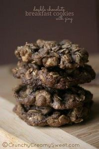 Double Chocolate Breakfast Cookies - 300 Favorite Cookie Recipes - RecipePin.com