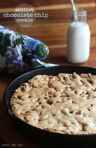 Skillet Chocolate Chip Cookie | ww - 300 Favorite Cookie Recipes - RecipePin.com