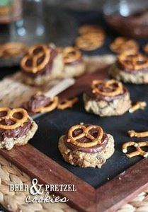 Beer and Pretzel Cookies | www.coo - 300 Favorite Cookie Recipes - RecipePin.com