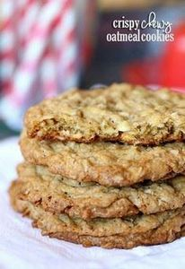 Crispy Chewy Oatmeal Cookies - 300 Favorite Cookie Recipes - RecipePin.com