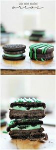 Thin Mint Stuffed Oreos | www.some - 300 Favorite Cookie Recipes - RecipePin.com