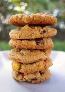 Reese's Pieces Peanut Butter Oatme - 300 Favorite Cookie Recipes - RecipePin.com