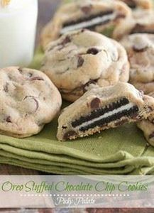 Oreo Stuffed Chocolate Chip Cookie - 300 Favorite Cookie Recipes - RecipePin.com