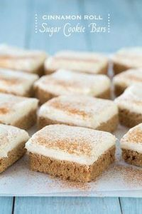 Cinnamon Roll Sugar Cookie Bars - 300 Favorite Cookie Recipes - RecipePin.com