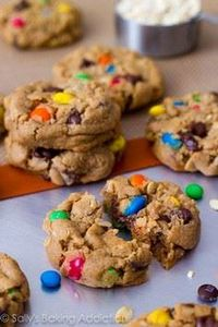 Soft-Baked Monster Cookies - 300 Favorite Cookie Recipes - RecipePin.com