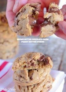 Brown Butter Chocolate Chunk Peanu - 300 Favorite Cookie Recipes - RecipePin.com