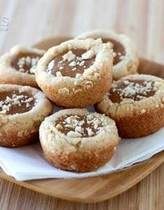 Caramel Cashew Cookie Cup Recipe - 300 Favorite Cookie Recipes - RecipePin.com
