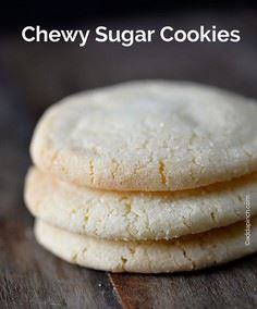 Chewy Sugar Cookies Recipe from ad - 300 Favorite Cookie Recipes - RecipePin.com