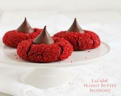 Red Velvet Peanut Butter Blossoms  - 300 Favorite Cookie Recipes - RecipePin.com