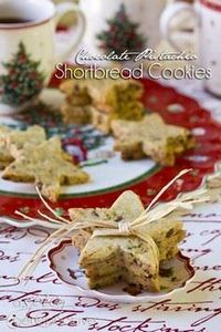 Pistachio-Chocolate Shortbread Coo - 300 Favorite Cookie Recipes - RecipePin.com