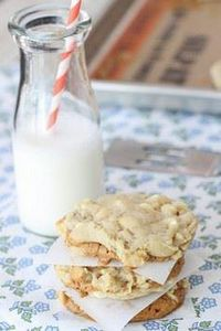 Biscoff Stuffed White Chocolate Ch - 300 Favorite Cookie Recipes - RecipePin.com