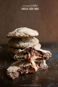 Caramel Filled Chocolate Sugar Coo - 300 Favorite Cookie Recipes - RecipePin.com