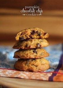 Pumpkin Chocolate Chip Cookies - 300 Favorite Cookie Recipes - RecipePin.com