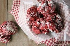 Red Velvet Gooey Butter Cookies - 300 Favorite Cookie Recipes - RecipePin.com