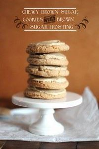 Chewy Brown Sugar Cookies with Bro - 300 Favorite Cookie Recipes - RecipePin.com
