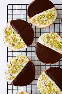 Salted Pistachio Black and White C - 300 Favorite Cookie Recipes - RecipePin.com