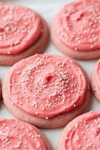 Strawberry Sugar Cookies. These ar - 300 Favorite Cookie Recipes - RecipePin.com