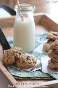 Salted Brown Butter Dark Chocolate - 300 Favorite Cookie Recipes - RecipePin.com