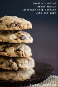 Chocolate Chip Cookies with Nutell - 300 Favorite Cookie Recipes - RecipePin.com