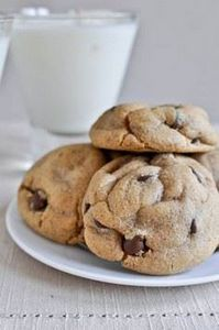 Puffy Peanut Butter Cookies with C - 300 Favorite Cookie Recipes - RecipePin.com