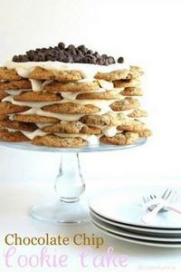 Chocolate Chip Cookie Cake @create - 300 Favorite Cookie Recipes - RecipePin.com