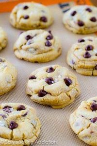 Salted Caramel Chocolate Chip Cook - 300 Favorite Cookie Recipes - RecipePin.com