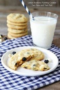 Lemon Blueberry Pudding Cookies - 300 Favorite Cookie Recipes - RecipePin.com